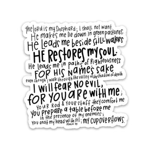 psalm 23 sticker