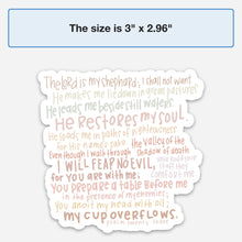 Load image into Gallery viewer, psalm 23 sticker - pastels