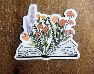 BOOK & FLOWERS | Sticker