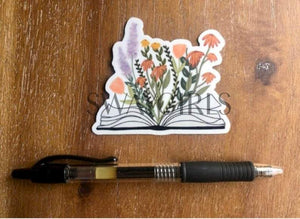 BOOK & FLOWERS | Magnet