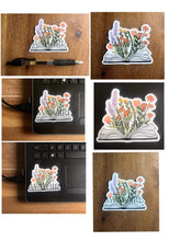 Load image into Gallery viewer, BOOK & FLOWERS | Sticker