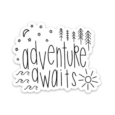 Adventure Awaits Sticker - swaygirls