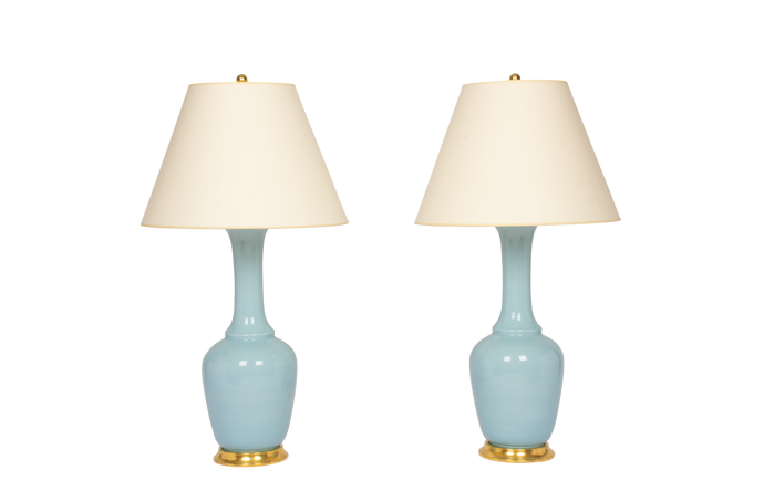 Alex Lamp Pair in Hydrangea