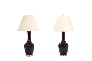 Alex Lamp Pair in Purple