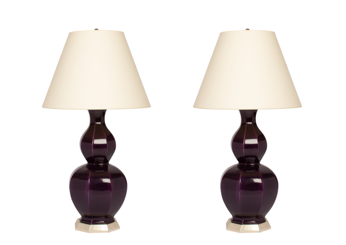 Alexander Large Lamp Pair in Purple