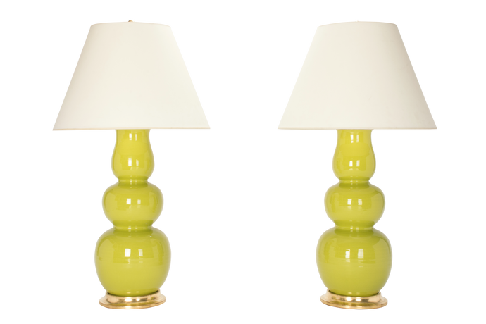 Allen Lamp Pair in Chartreuse