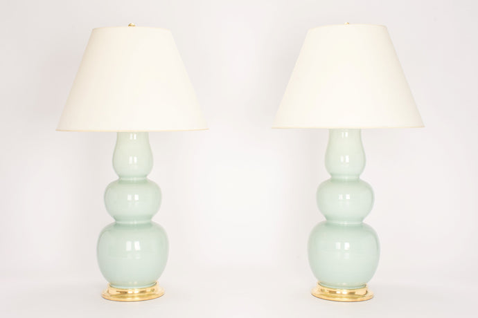 Allen Lamp Pair in Duck Egg
