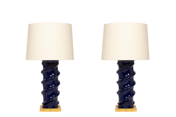 Amanda Lamp Pair in Indigo