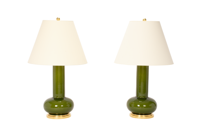 Ashley Medium Lamp Pair in Spruce