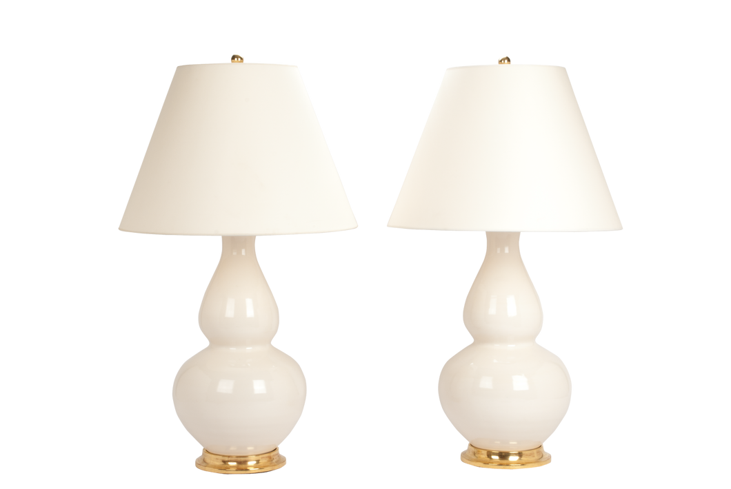 Aurora Lamp Pair in Blanc de Chine