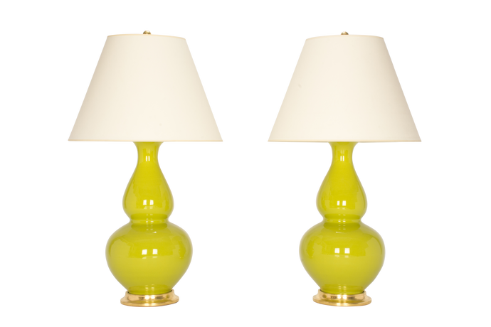 Aurora Lamp Pair in Chartreuse