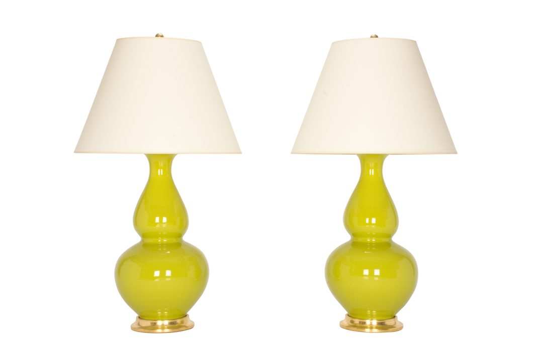 Aurora Lamp Pair in Apple Green