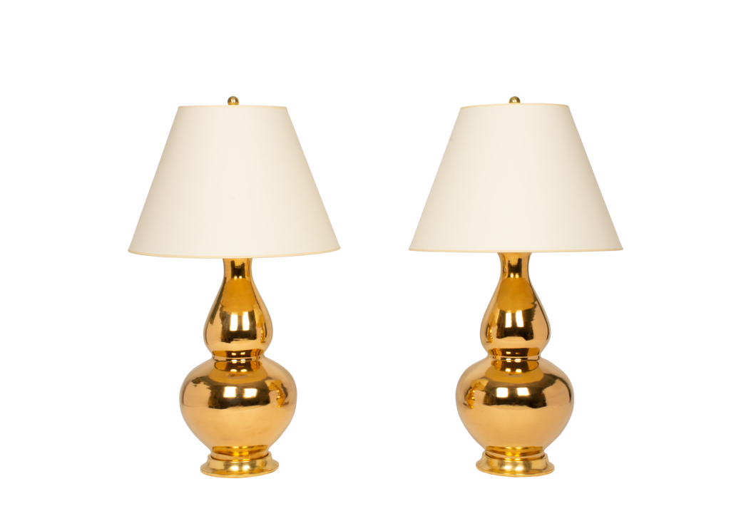 Aurora Lamp Pair in Gold Luster