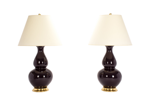 Aurora Lamp Pair in Purple