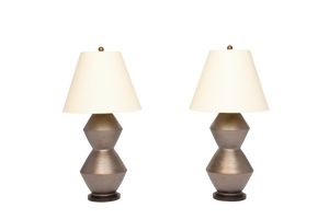 David Medium Lamp Pair in Matte Bronze