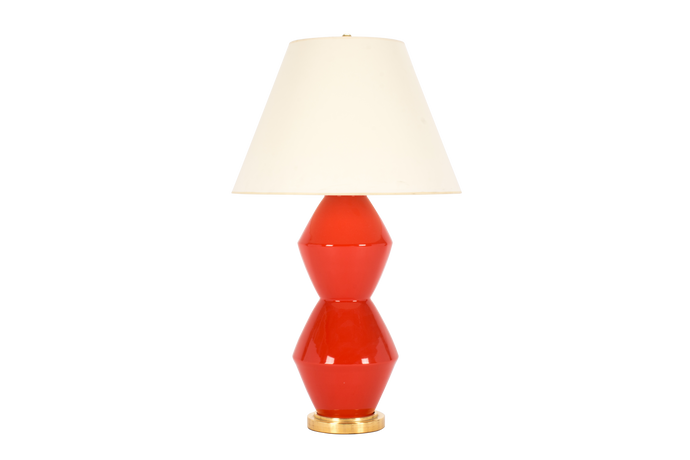 David Large Lamp in Coral