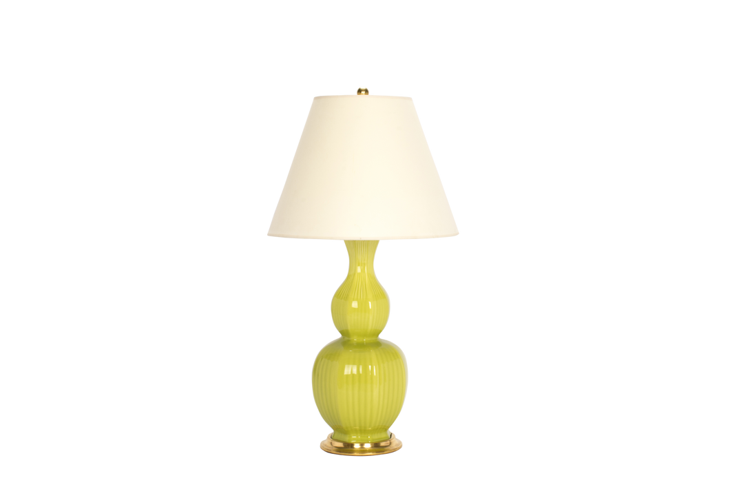 Delft Lamp in Apple Green