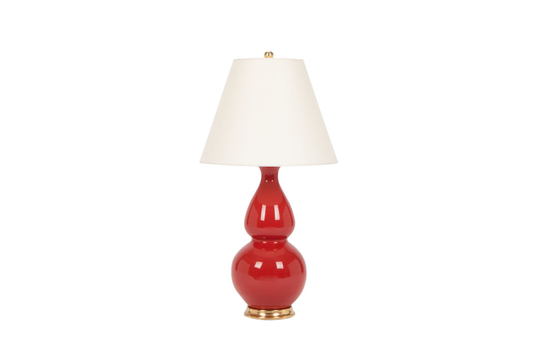 Double Gourd Medium Lamp in Raspberry