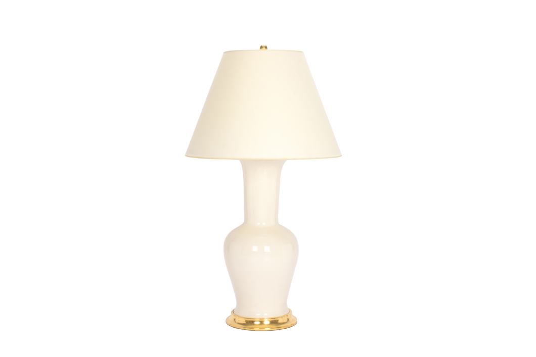 Garniture Lamp in Blanc de Chine