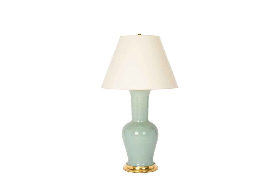 Garniture Lamp in Duck Egg