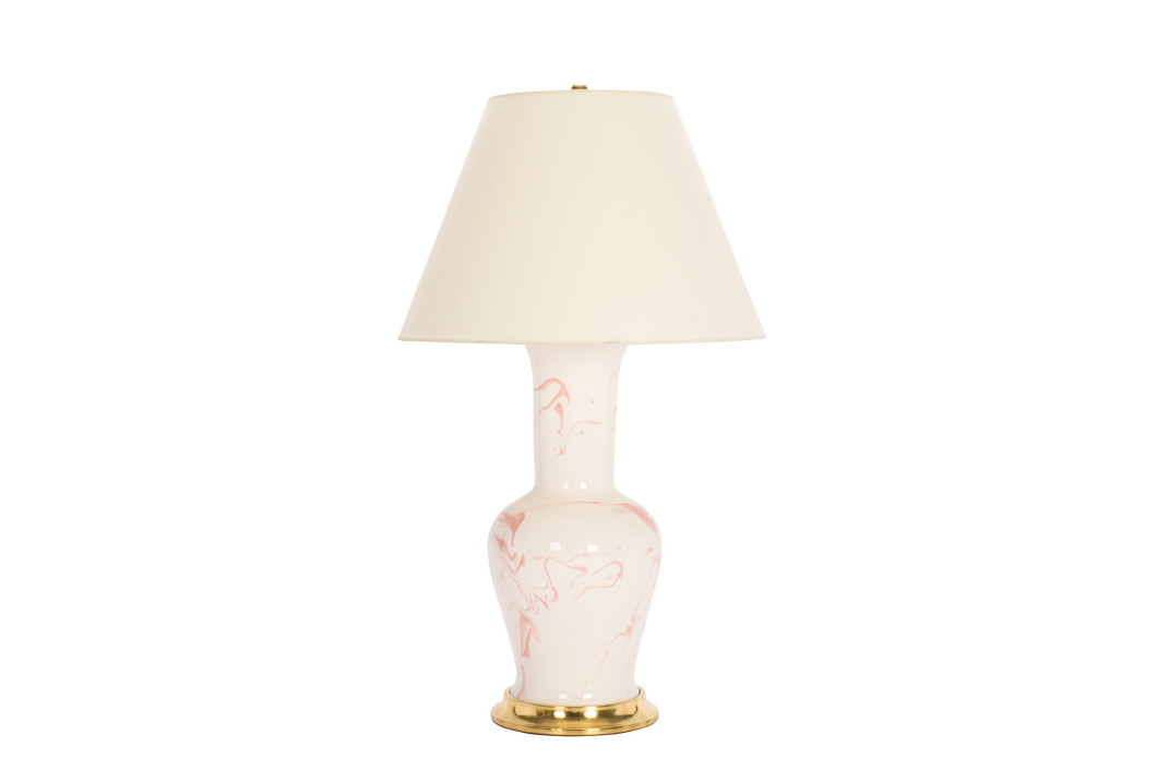 Garniture Lamp in Pink Marble