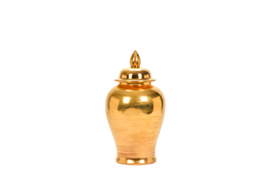Ginger Jar with Lid in Gold Luster