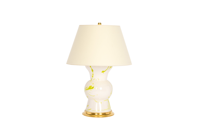 Gregory Lamp in Lime Green Marble