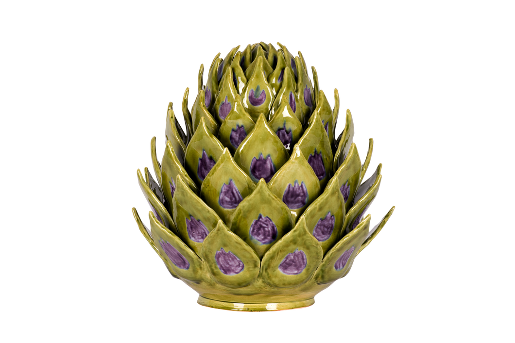 Artichoke Tureen in Spruce and Aubergine