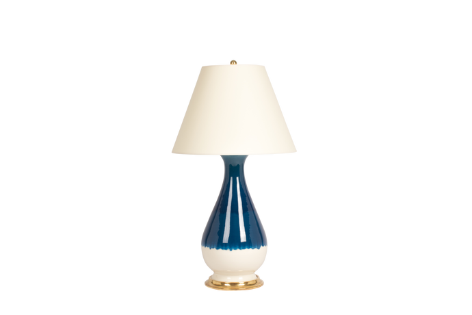 Louisa Large Lamp in Prussian Blue Ombre