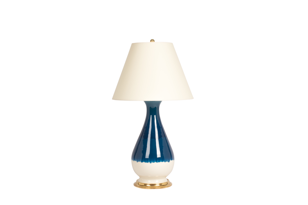Louisa Large Lamp in Prussian Blue Ombré