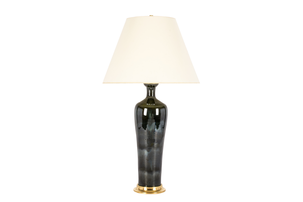 Vase Tall Lamp in Alligator Green