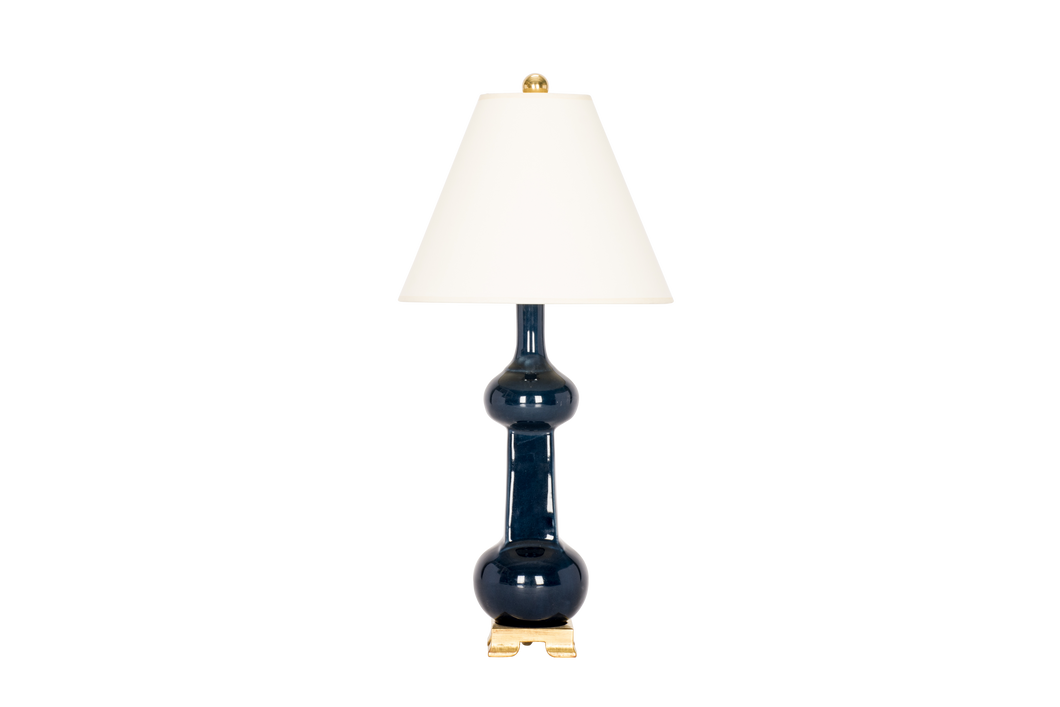 Hadley Small Lamp in Navy