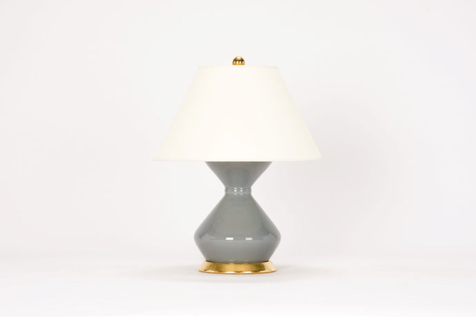 Hager Small Lamp in Blue Grey