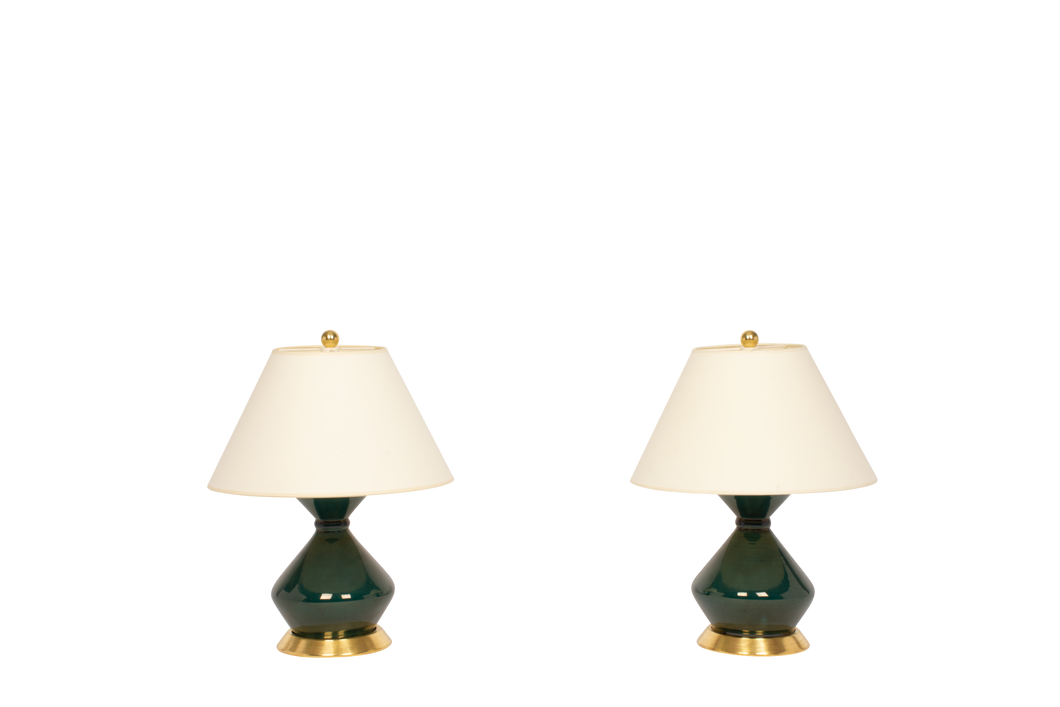 Hager Small Lamp Pair in Peacock