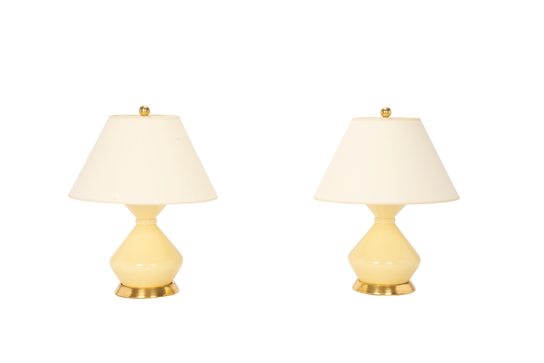 Hager Small Lamp Pair in Butter