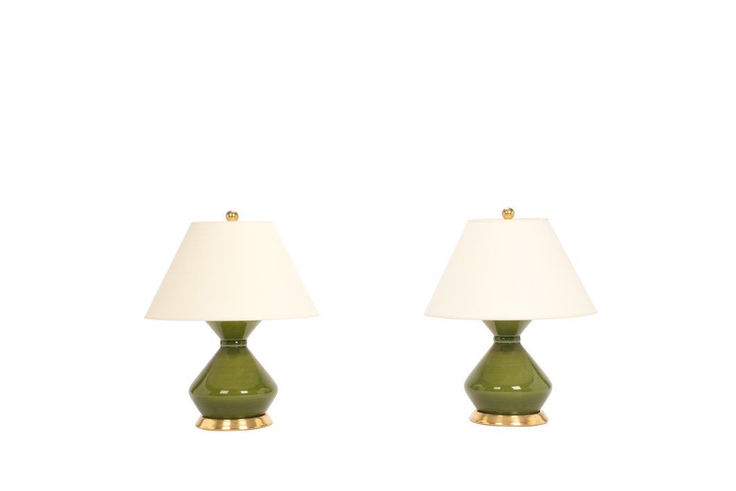 Hager Small Lamp Pair in Spruce