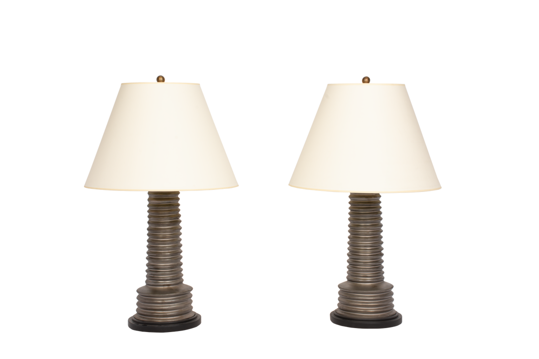 Harry Lamp Pair in Matte Bronze