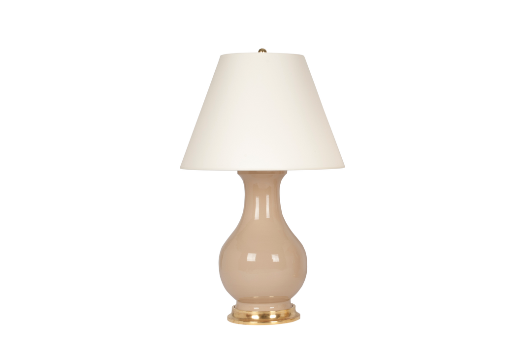 Hann Large Lamp in Warm Beige