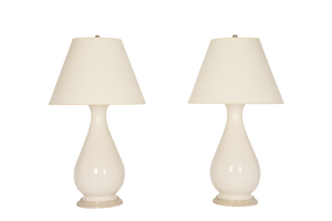 Louisa Large Lamp Pair in Clear Crackle