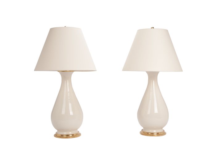 Louisa Large Lamp Pair in Clear