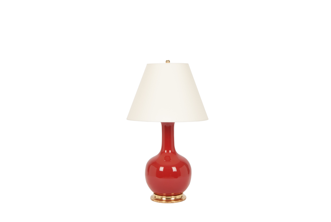Single Gourd Large Lamp in Raspberry