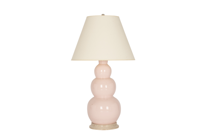 Three Ball Large Lamp in Blush Pink