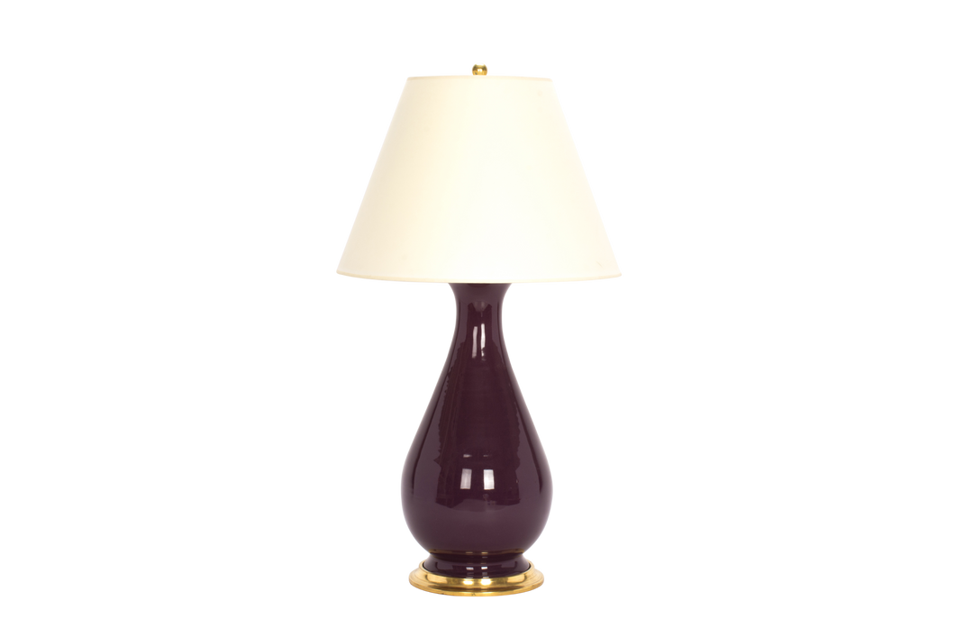 Louisa Large Lamp in Aubergine