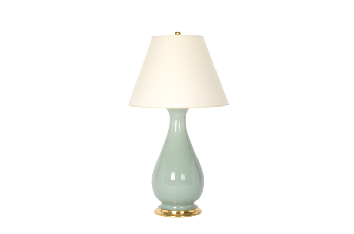 Louisa Large Lamp in Duck Egg