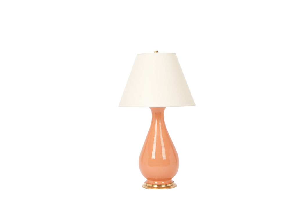 Louisa Large Lamp in Peach