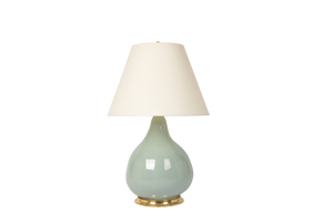 Pear Gourd Large Lamp in Duck Egg