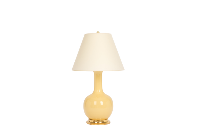 Single Gourd Large Lamp in Butter