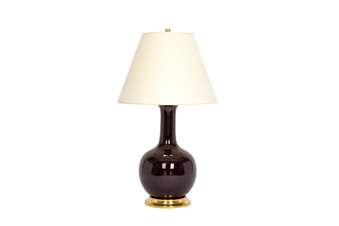 Single Gourd Large Lamp in Purple