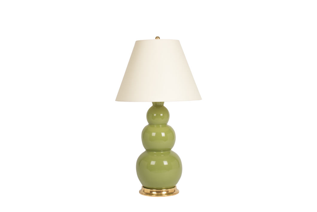 Three Ball Large Lamp in Avocado