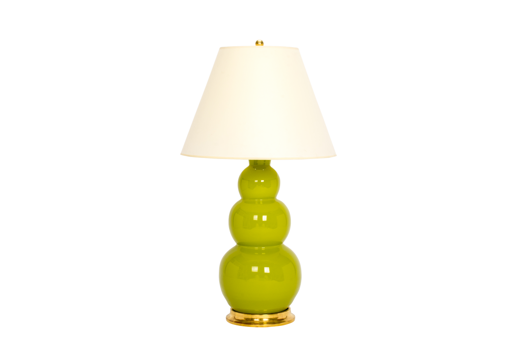 Three Ball Large Lamp in Chartreuse